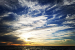 Clouds and sunset over the Gulf of Mexico
